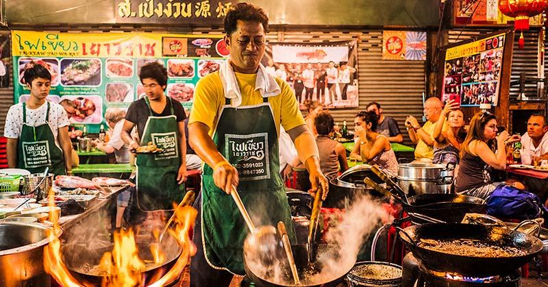 Gatumat i Bangkok