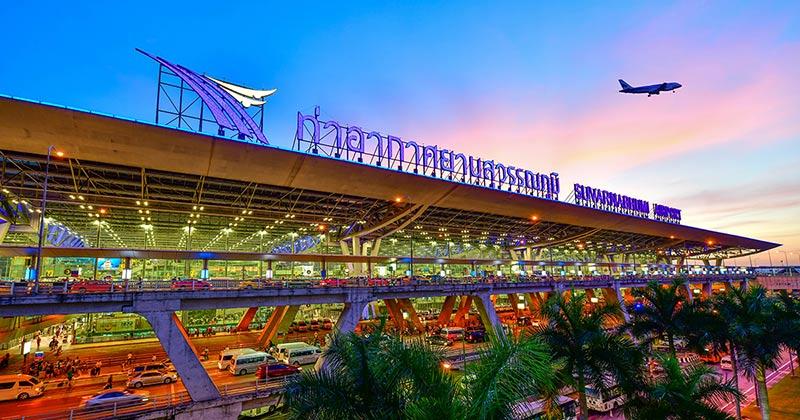Flyg till Bangkok - flygplatsen Suvarnabhumi